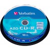 Диск CD-R Verbatim 700MB 52-х 10 шт cake box